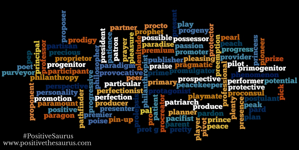 positive nouns that start with p