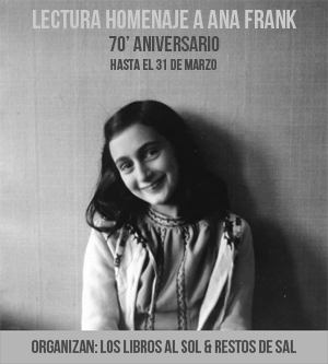 Lectura homenaje Ana Frank