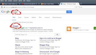"""Ketik """"blogger"""" pada pencarian"""