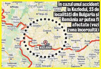 aria afectata de Kozlodui
