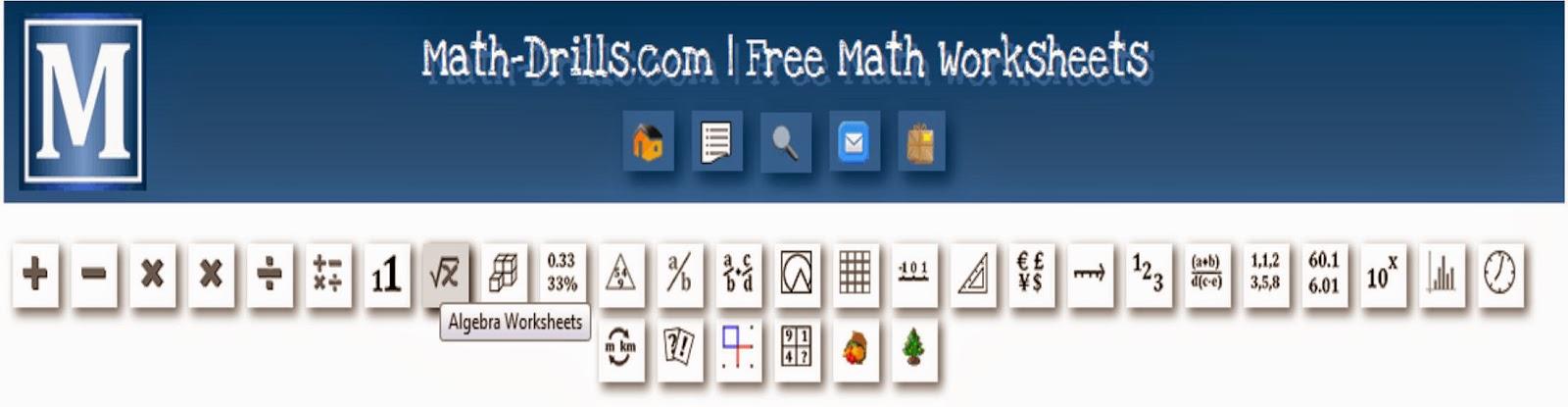 http://www.math-drills.com/