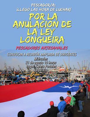 VALPARAISO:  PESCADORES ARTESANALES CONVOCAN A REUNIÓN AMPLIADA DE DIRIGENTES
