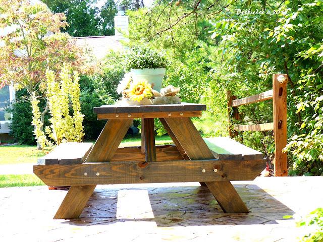 P1090699 Good ole fashioned wood picnic table!