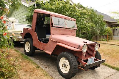 1947 Willys CJ2A Jeep.