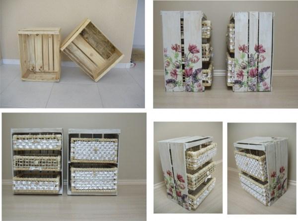 Eco art y m s ideas para hacer con las cajas de fruta - Decoracion reciclaje muebles ...