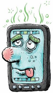 Cartoon Smartphone,Panduan Beteri Smart Phone Tahan Lebih Lama,