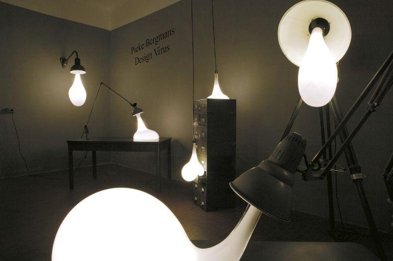 Arredo in lampade da interni creative light blubs di pieke bergmans