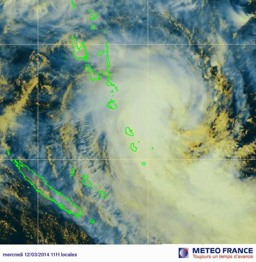 Image satellite pour la forte tempête tropicale Lusi