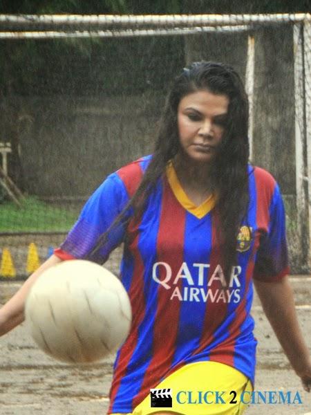 Rakhi Sawant Playing Football Photos and Hot Stills
