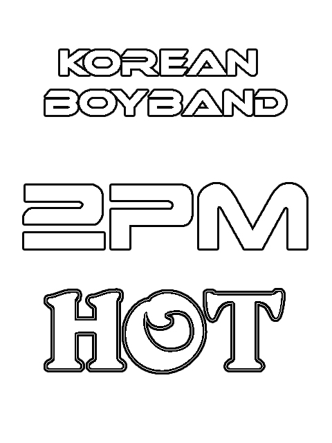 Korean Boyband Coloring Pages 2PM