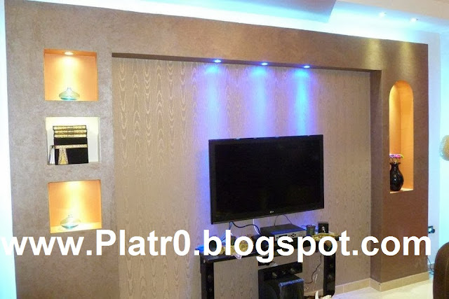 10 Meilleur Deco Placoplatre  Décoration Platre Maroc  Faux Plafond Dallea -> Tv Placoplatre