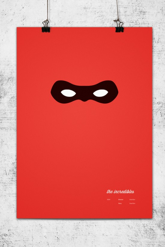 Pixar Movies as Minimalistic Posters