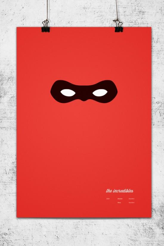Pixar Movies as Minimalistic Posters