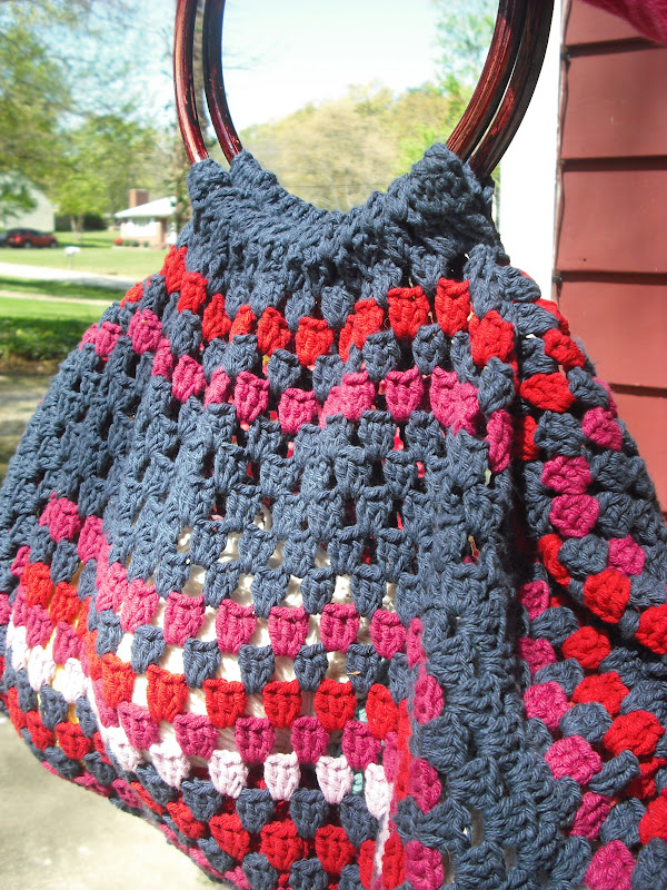 Purple Chair Crochet The Granny Of All Bags How To