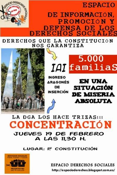 Espacio Derechos Sociales Zaragoza, Ingreso Aragonés de Inserción