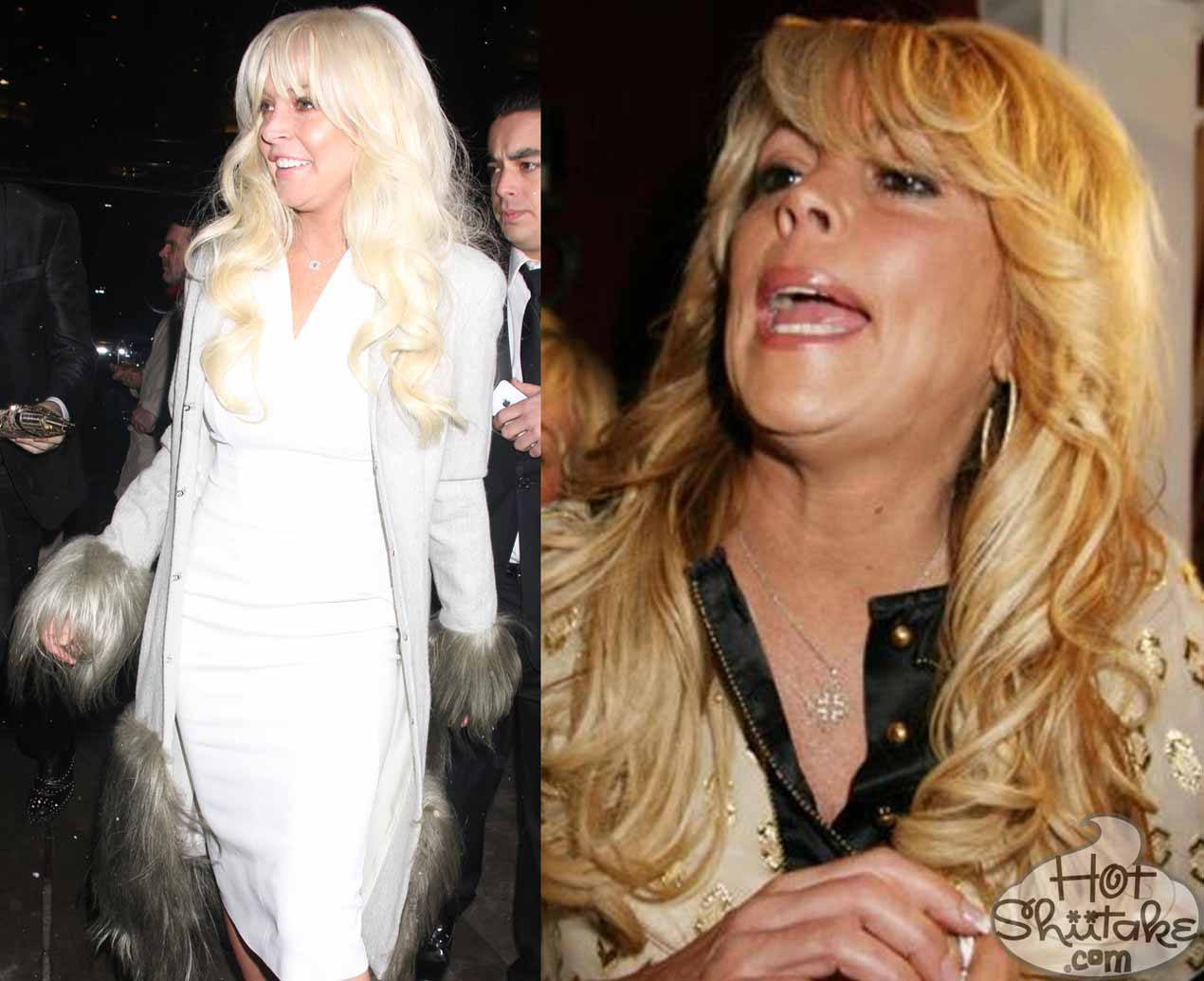 Lindsay Lohan and Dina Lohan twins
