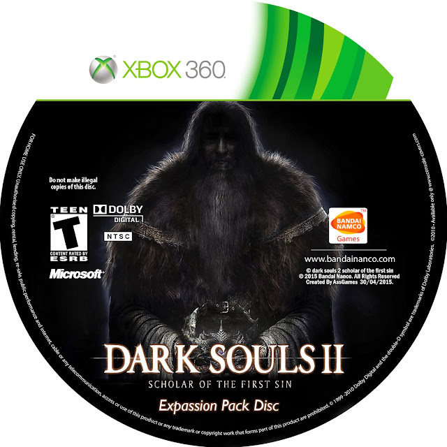 Label Dark Souls 2 Scholar Of The First Sin Expansion Pack Disc Xbox 360