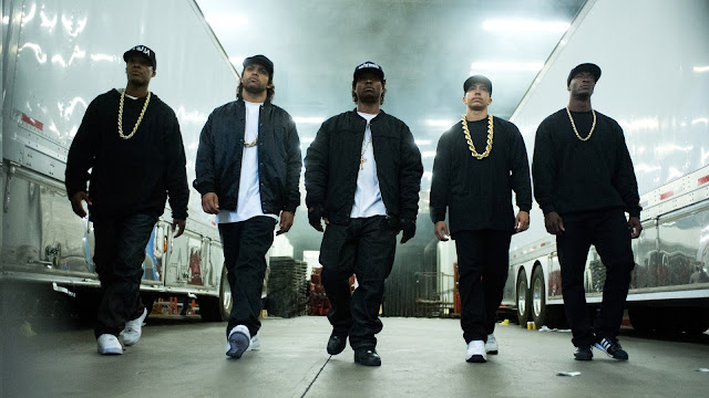 "Ice Cube, Dr. Dre, and Eazy-E come ""Straight Outta Compton"" and into the multiplex"