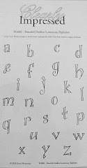Fanciful Outline Lowercase Alphabet