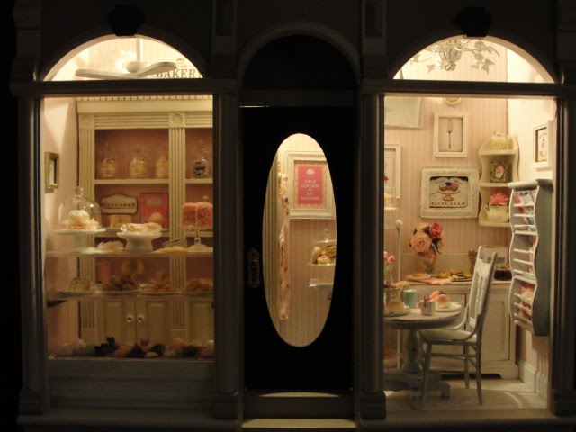 Mini bakery at night