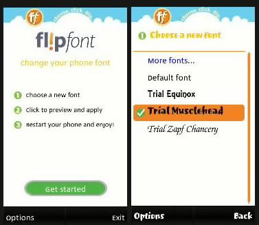 Flip font s60 v5