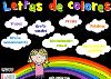 JUEGO LETRAS DE COLORES
