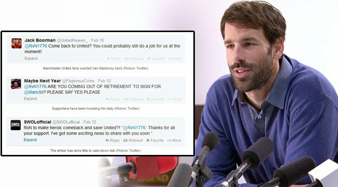 Van Nistelrooy Diminta Kembali ke MU