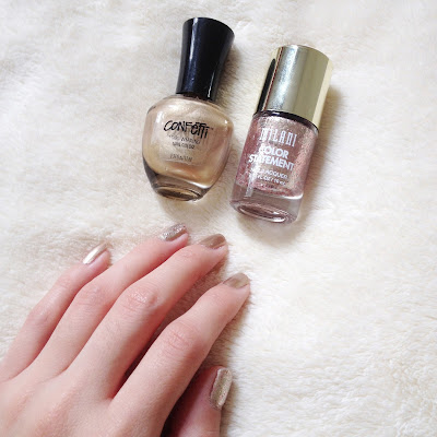 Milani Color Statement Gilded Rocks, Confetti Debutante, Gold Sparkle, Nails, Nail Polish, Lacquer, Sparkly