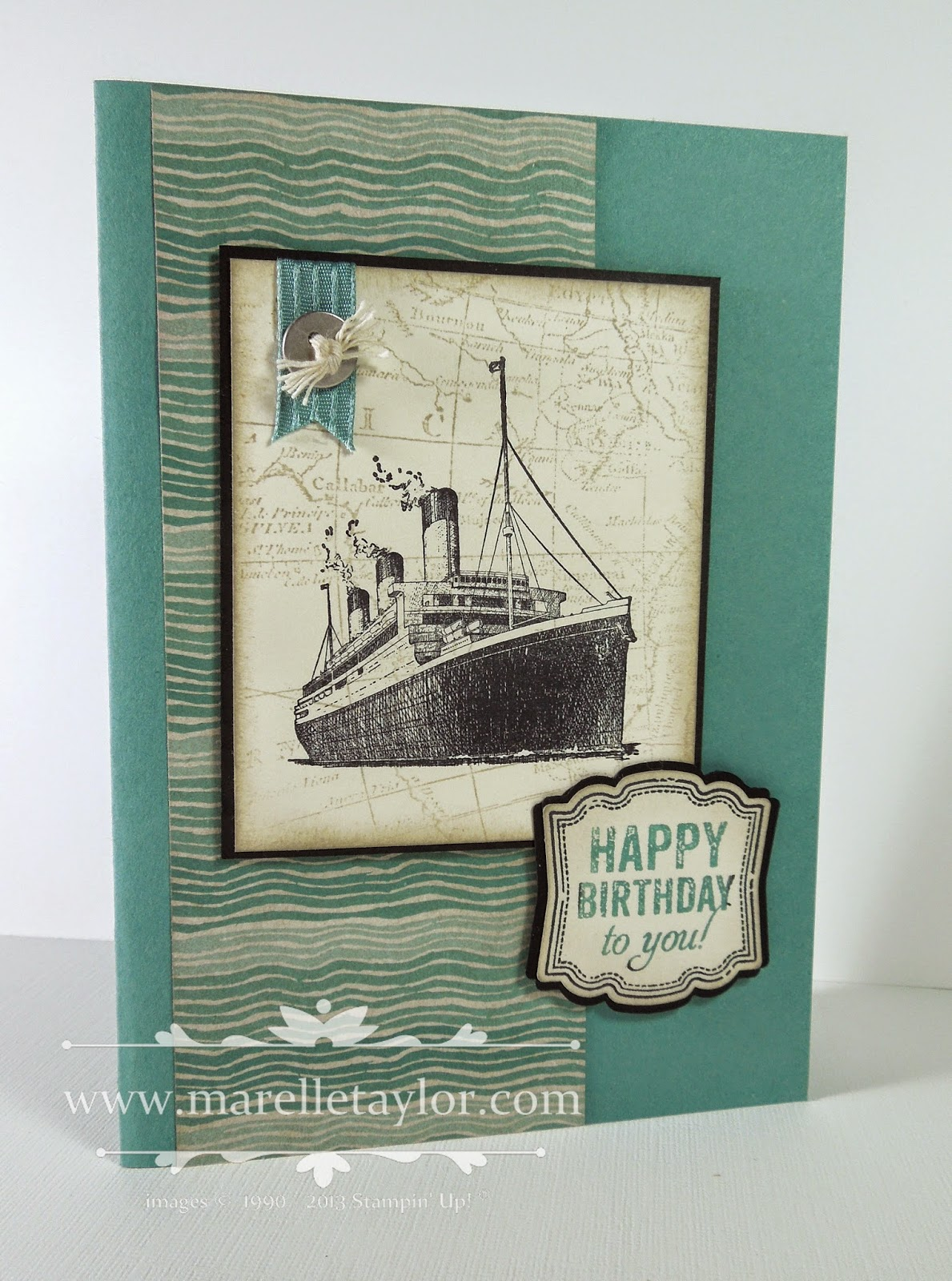 Marelle taylor stampin up demonstrator sydney australia traveler lost lagoon is a great colour for masculine cards and the traveler stamp set is my go to masculine stamp set world map is such a natural partner for this gumiabroncs Images