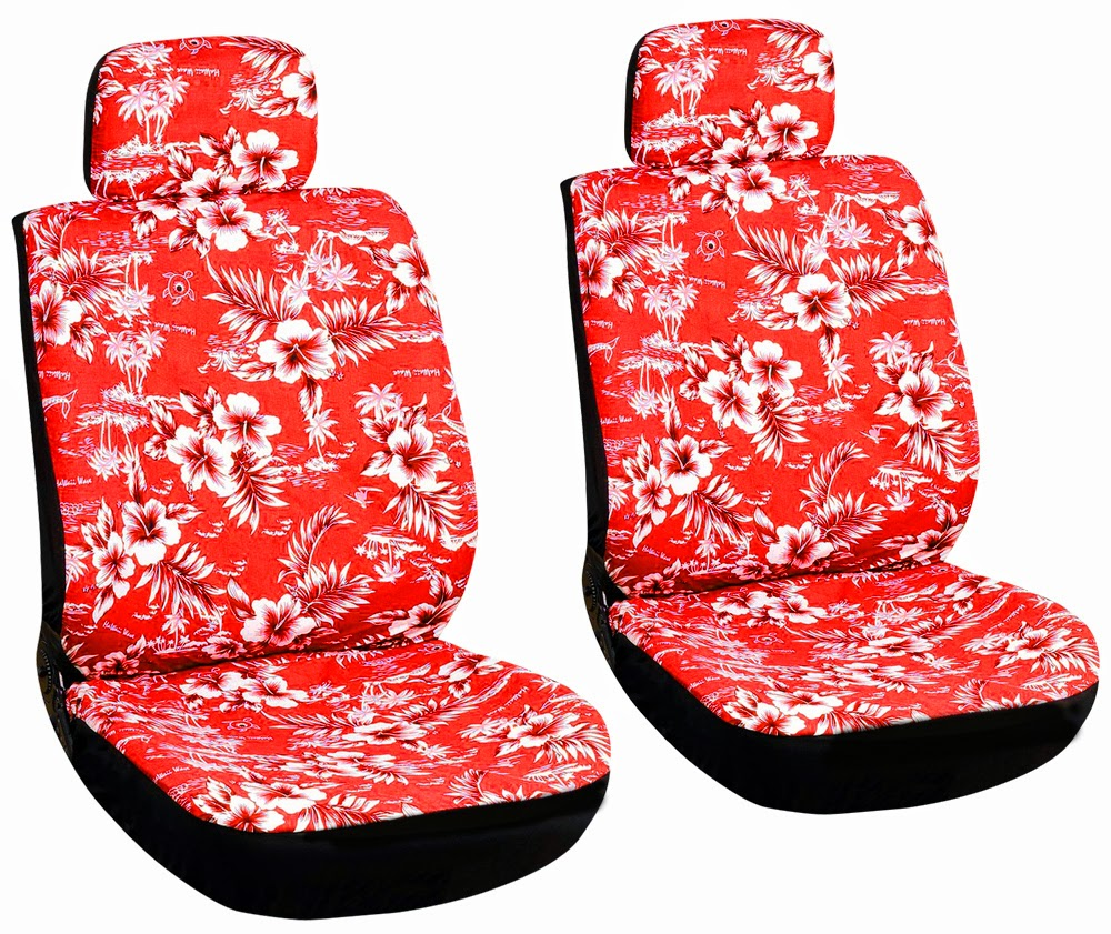 Hawaiian red seat covers image