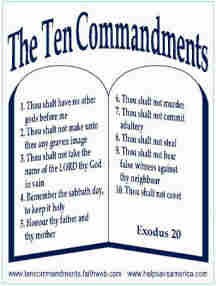 essay for the the 10 commandments The ten commandments is a debate that many people get into i believe that they shouldn't be posted in front of public buildings yes, the commandments are morally based, but we have to think about the whole separation of church and state thing.