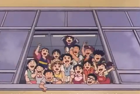 Zettai Muteki Raijin-Oh 90's Anime with elementary school students transforming their school into a command center controlling a gundam like mecha called raijin oh