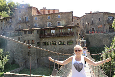 Rope Bridge Rupit Spain