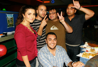 Bowling night team #18 with its five employees