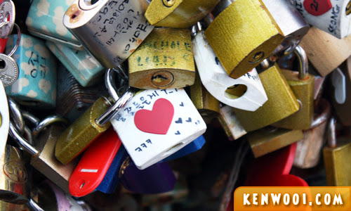 n seoul tower love padlock