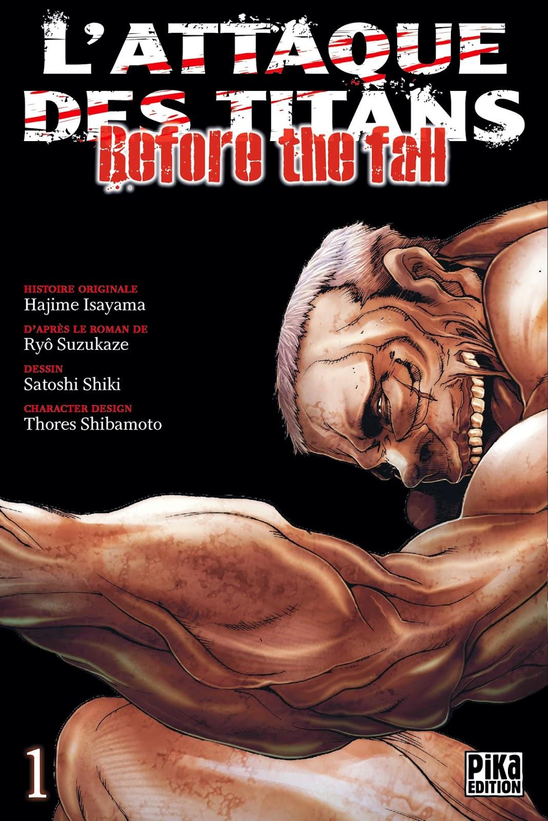 L'Attaque des Titans - Before the Fall, Pika Edition, Manga, Actu Manga,