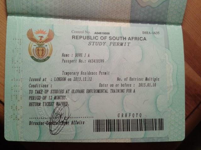 south africa visa form