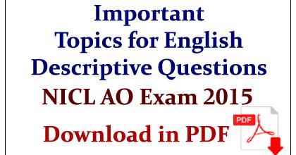descriptive essay topics for bank exams
