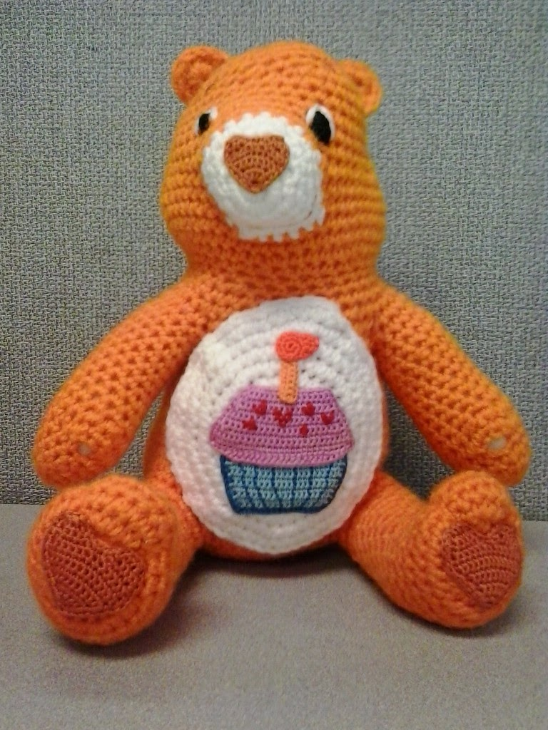 Crochet fanatic birthday care bear this is the pattern for the birthday cupcake on birthday care bears belly the body and detail colors that i used birthday care bear is also included bankloansurffo Choice Image