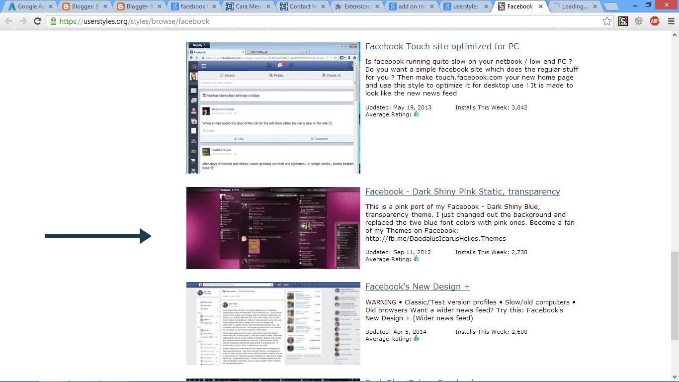 Cara Merubah Tampilan Facebook gambar 1