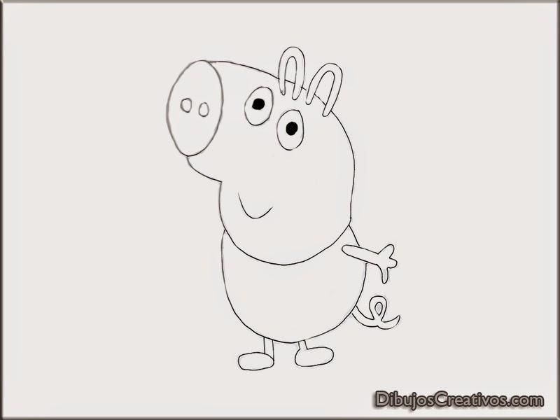 dibujos para colorear GEORGE PEPA PIG.