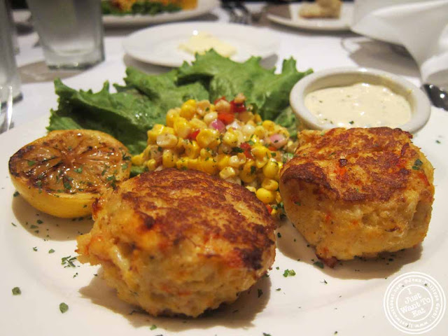 image of lobster and crab cakes at The Capltal Grille in Midtown, NYC, New York