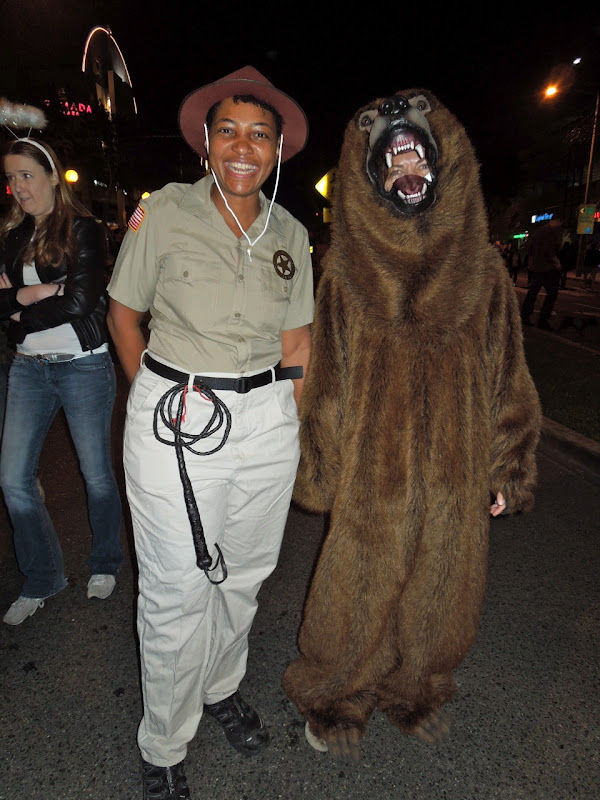 West Hollywood Halloween Carnaval park ranger bear