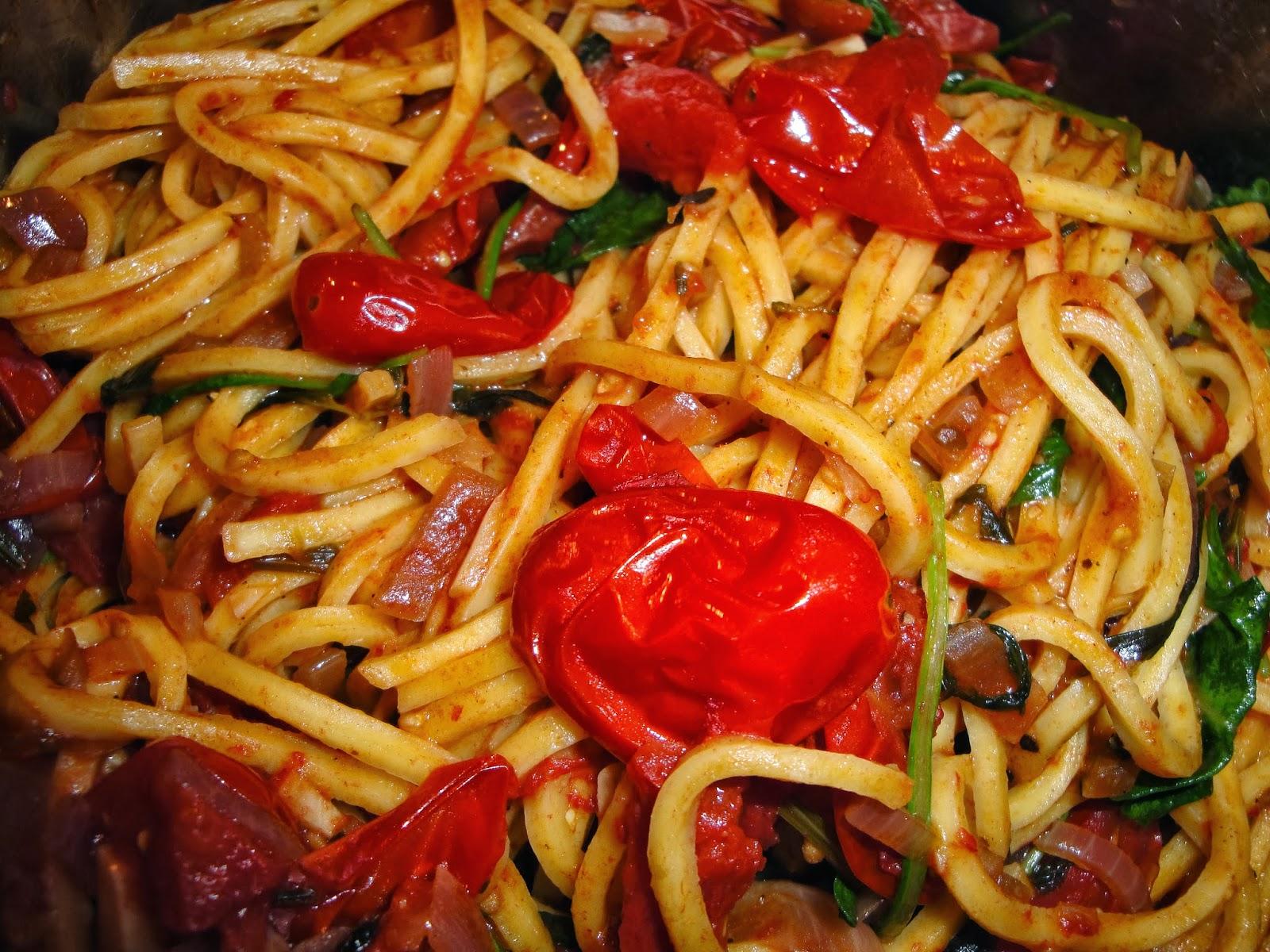 lichte pasta maaltijd