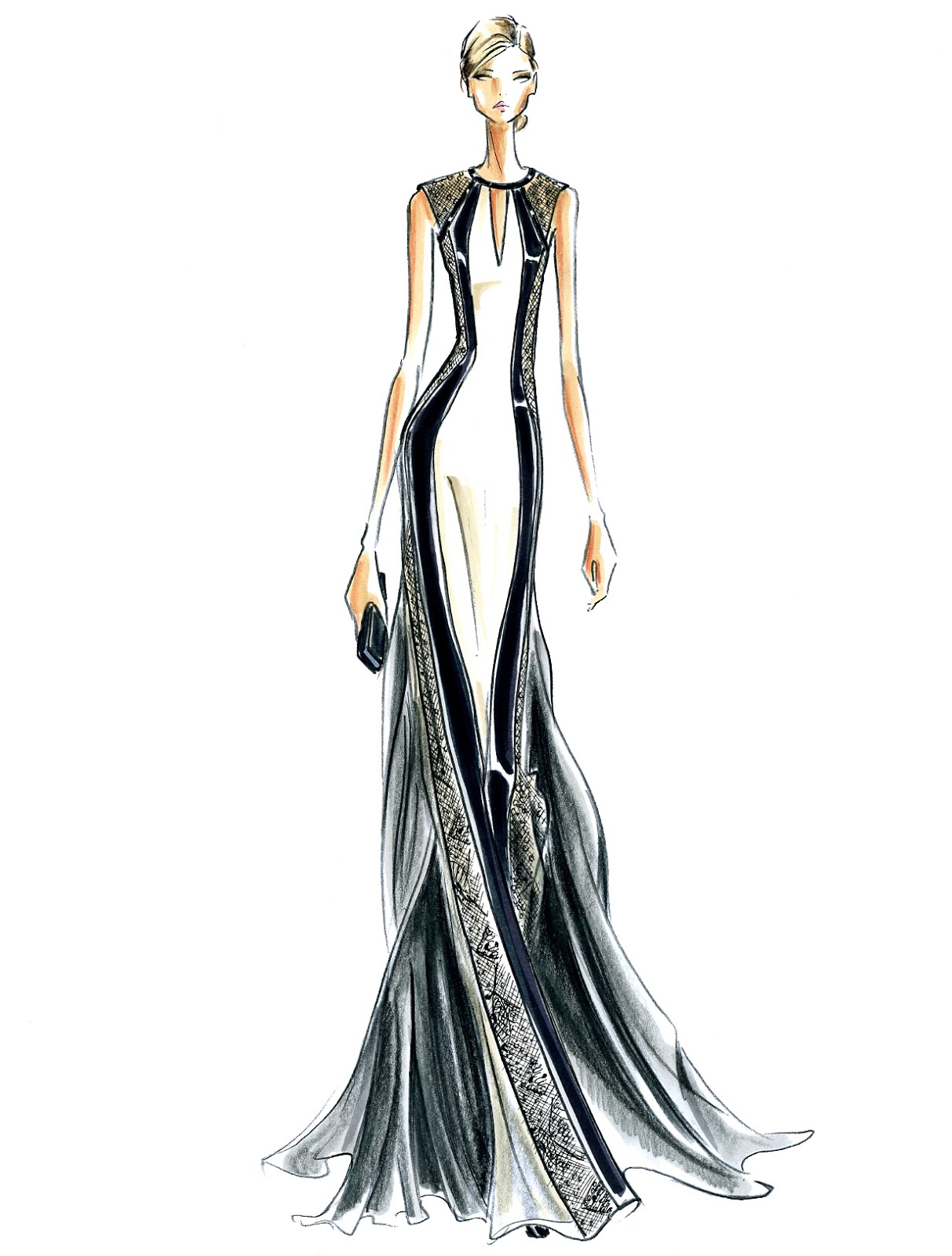 What is a fashion sketch Jean-Paul Gaultier - Fashion Designer - Biography