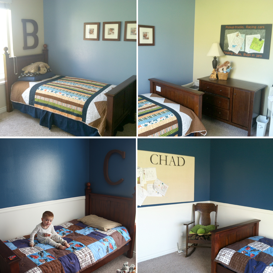 are the boy 39 s rooms we just barely painted the blue in chad 39 s room