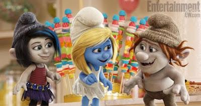 novos personagens filme smurfs 2