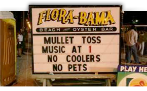 Alabama/Florida Line, Interstate Mullet Toss & Gulf Coast Beach Party at Flora-Bama Lounge & Oyster Bar