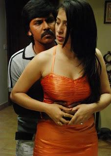 Kanchana Movie Hot Stills Laxmi Rai Grabbed and Enjoyed By Hero