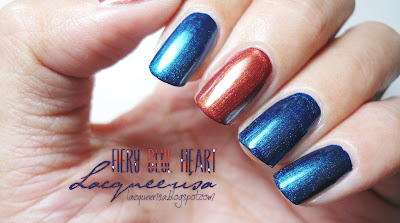 Lacqueerisa: Fiery Blue Heart